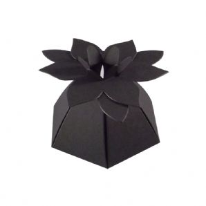 Black Flower Top Designer Favour Box, Weddings, Parties,